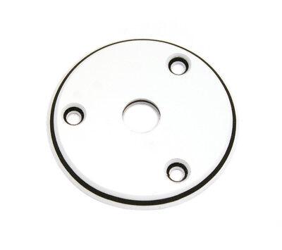 3-ply White Round Jack Plate for Flying V® Vee Guitar AP-0614-035