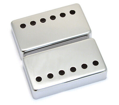 (2) Chrome Covers for Modern Gibson® Humbucker Pickups Wide Bridge PC-0300-W10