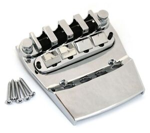 NEW for Rickenbacker Bass BRIDGE + TAILPIECE Guitar Parts Chrome BB-0316-010