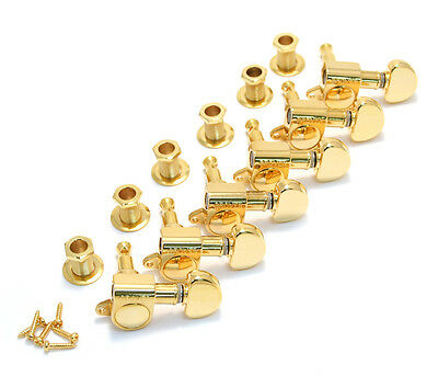 Grover 6-inline Mini Rotomatic Gold Kidney TUNERS 18:1 305G6 TK-7920-002