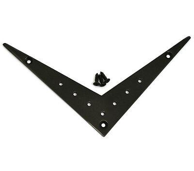 FVT-7ST-B Black 7-string Vee Flying V Style Electric Guitar Tailpiece