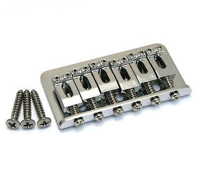 "005-8274-000 Genuine Fender Chrome 2-1/16"" Hardtail Strat/Tele Guitar Bridge"