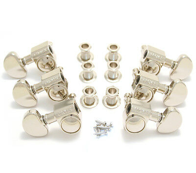 Grover Nickel 18:1 Ratio Rotomatic Tuners for Gibson®/Epiphone® Guitar 102-18N