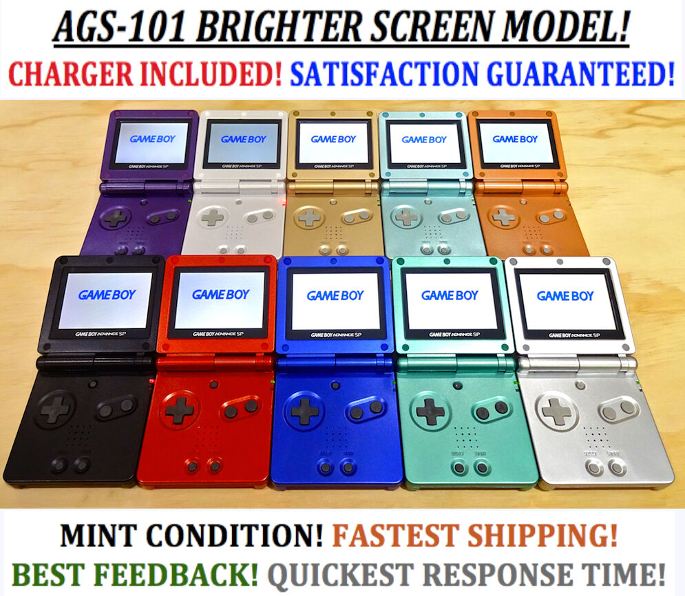 Gameboy color and advance rpg games - Nintendo Game Boy Advance Gba Sp System Ags 101 Brighter Mint New Pick A Color