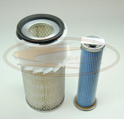 Bobcat Engine Air Filter Kit T190 Skid Steer Inner Outer New 6598492 6598362