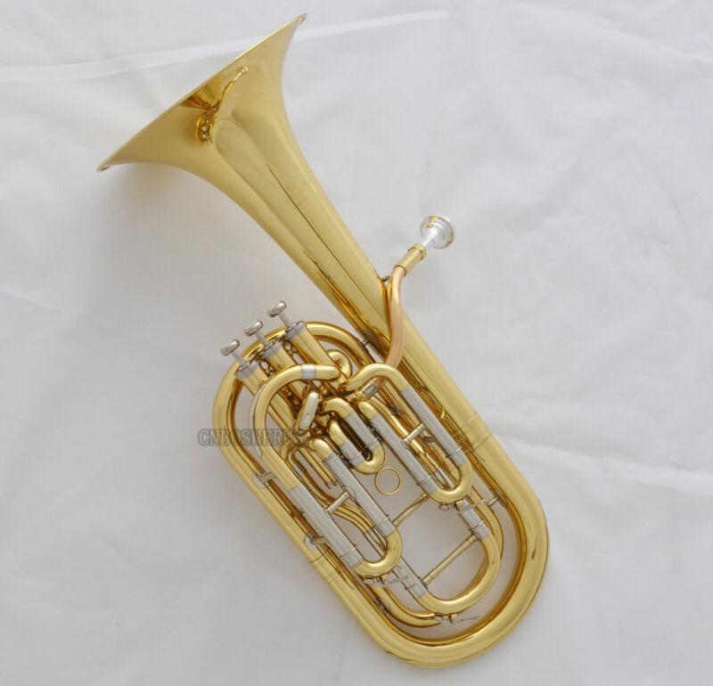 Professional JINBAO Gold Compensating Baritone Horn Cupronickel Tuningpipe +Case