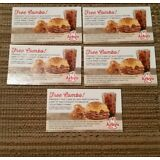 Lot of (5) Arby's Combo Meal Coupons Vouchers NO EXPIRATION