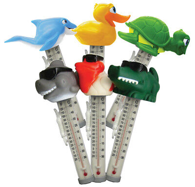 Swimming Pool Spa Hot tub Floating Animal Thermometer Shark Turtle Duck -