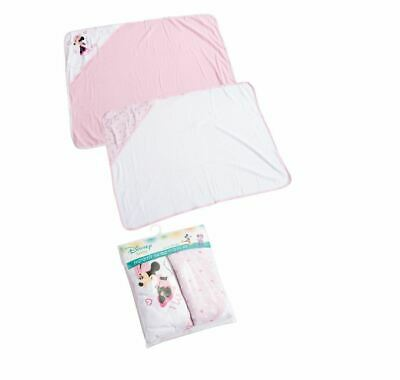 Disney Minnie Mouse Baby Girls Set Of 2 Hooded Soft Bath Towels Pink 60x80 cm for sale  Shipping to United States