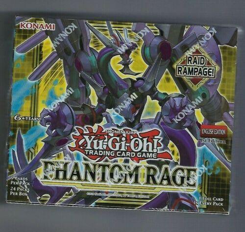 Yugioh Phantom Rage Factory Sealed Booster Box 1st Edition