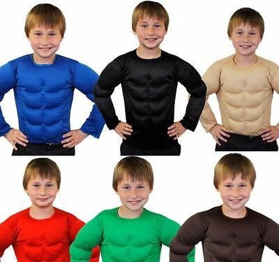 Baby Strongman Costume (IL HALLOWEEN Child Padded Muscle Chest Top Strongman Shirt TV Movie Army)