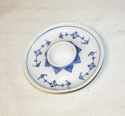 Vintage Rare 6 Single Egg Cups Kahla Blau Saks Germany Blue Pattern