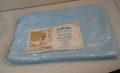 Vtg Chatham North Star Little Dipper Baby Blue/ Aqua Receiving Blanket New