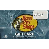 $50 Bass Pro Shops Gift Card - Free Shipping