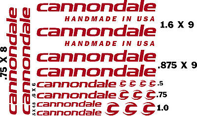 CANNONDALE  BICYCLE DECAL KITS (20pcs) for $12.95FREE SHIPPING/CHOOSE COLOR Bike Decal Kits