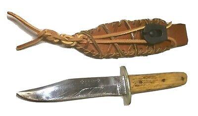 Vintage Alfred Williams Sheffield England *Ebro*Bowie Dagger Knife Stag W/Sheath