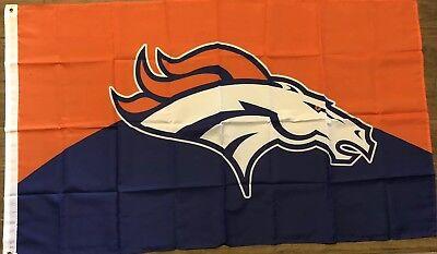 Denver Broncos Flag 3x5 NFL Football Man Cave Orange And Blue Marshall Miller