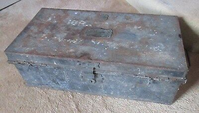 Rare Historic Sandhurst Trunk - Major JE Barr Bengal Staff Corps 109th Regiment