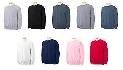 Ladies Fleece Crewneck Sweatshirt (Gildan 18000 Adult Crewneck Sweatshirt Heavy Cotton Blend Fleece Mens Ladies )