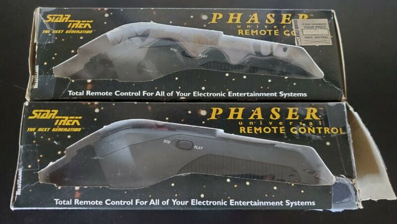 2X Star Trek The Next Generation Phaser TV VCR Universal Remote Control Working