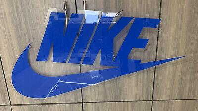 "Rare Vintage Nike 1980s 80s Shoe Store Advertising Swoosh Sign Display 37"" X 19"""