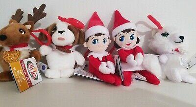 ELF On The Shelf MINI Plush Plushee Pals Boy Girl Elf Pets Reindeer Dog AFox lot