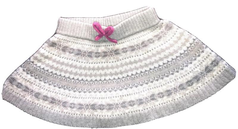 Vintage Osh Kosh Knit Toddler Girls Skirt Sz 18 M