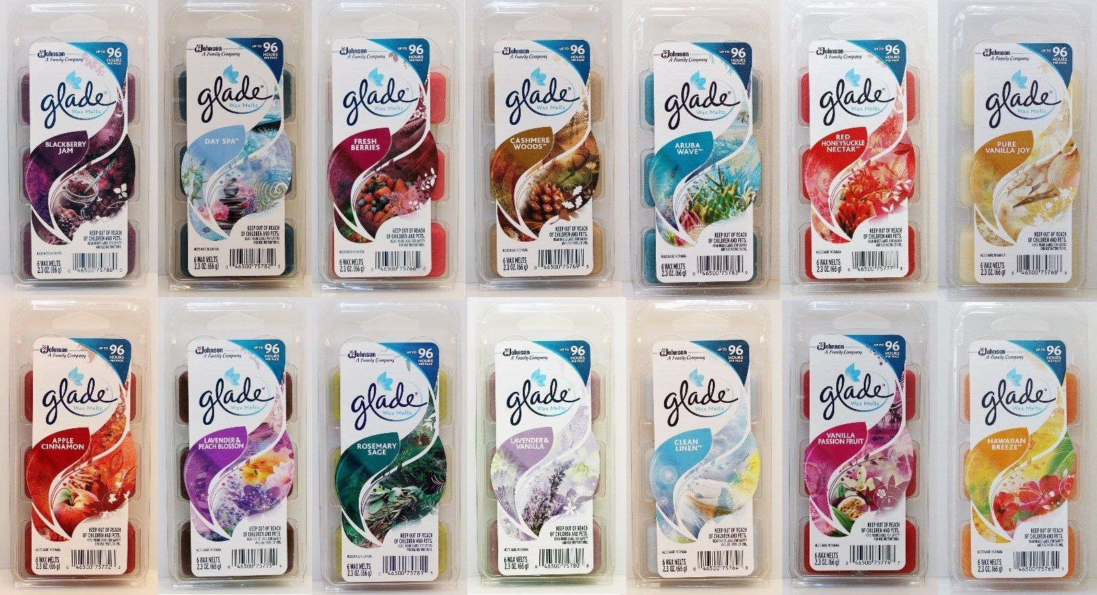 NEW Glade WAX melt refill air freshener Assorted Scents and