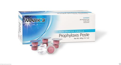 2 Boxes - Dental Prophy Paste 400 cups Prophylaxis Non splatter Mark3