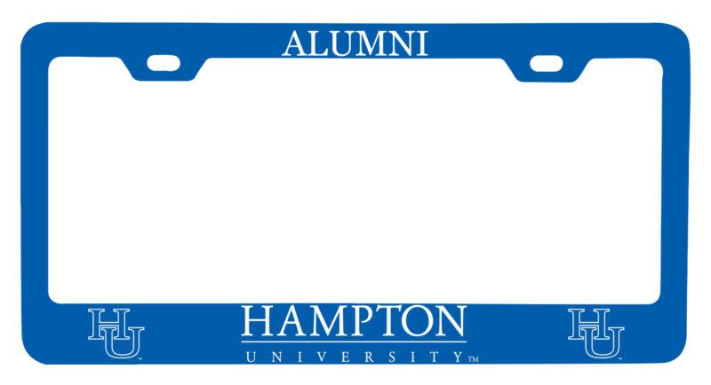 Hampton University Alumni License Plate Frame New for 2020