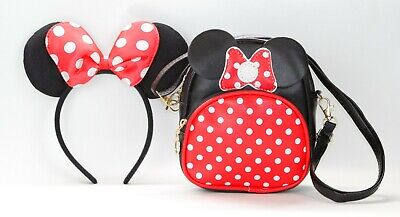 Minnie Mouse Polka Dots Crossbody Bag Shoulder Strap absolutely cute