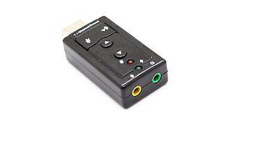 USB Sonido Adaptador Virtual 7.1 Sonido Envolvente #c708