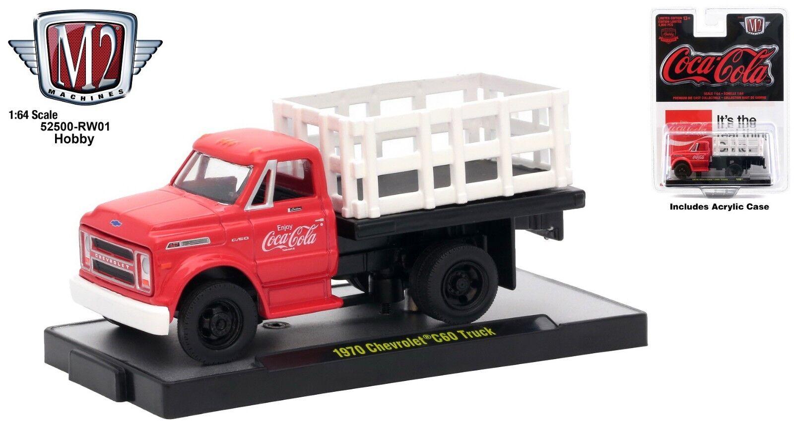 M2 Machines 1:64 Coca-Cola Hobby 1970 Chevrolet C-60 Truck Diecast Model Truck