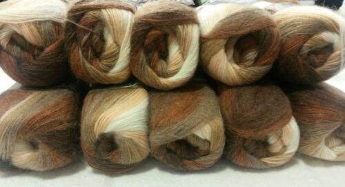 1kg. ALIZE-Wolle: Angora Gold Batik Braun-Beige