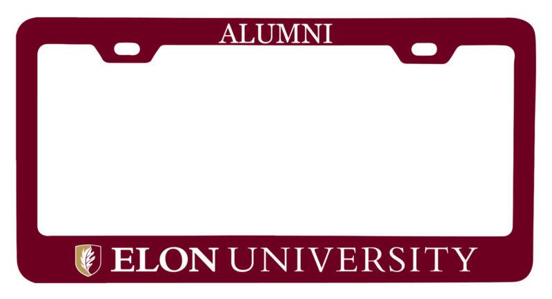 Elon University Alumni License Plate Frame New for 2020