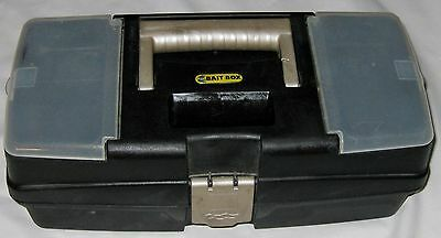 "Blue Vinyl 14"" Three Compartment Bait Box - Tackle Box"