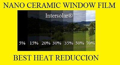 "Window Film 5%  Nano Ceramic Tint  Heat Reduccion  40""x100' 2ply  Intersolar®"