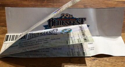 Bluesfest 5 day Pass and camping 1 person and 3 person tentmotel.