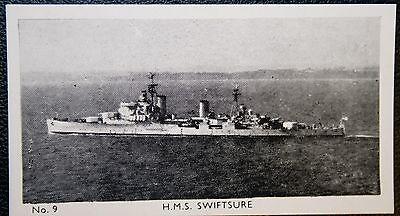 HMS SWIFTSURE    Royal Navy Cruiser    Vintage Photo Card  VGC