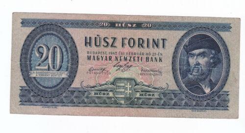 Hungary 20 Forint 1947 VF