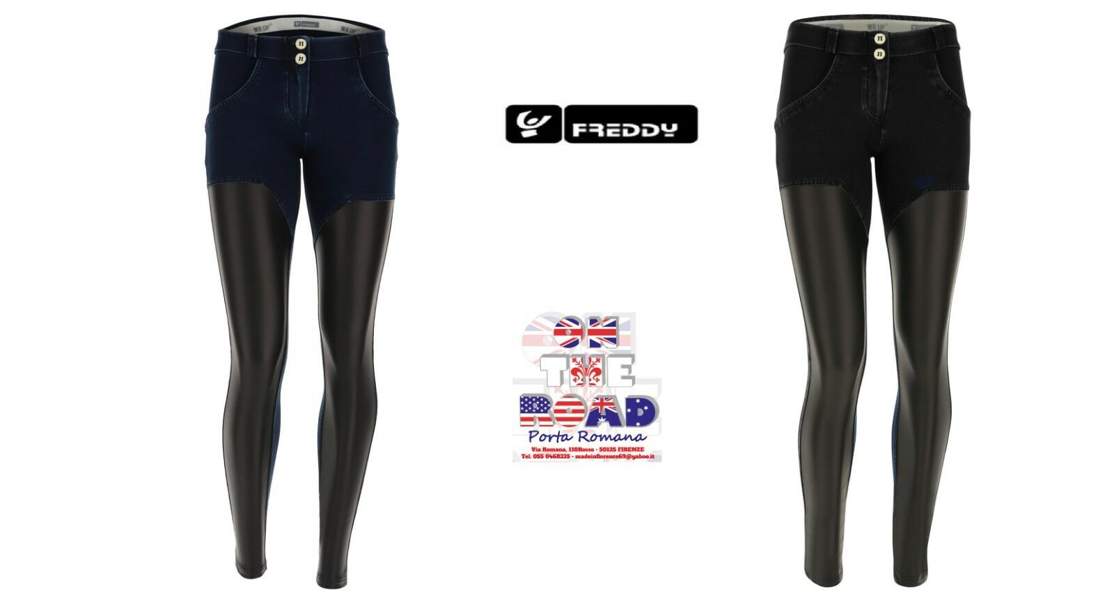 SCONTO 10% FREDDY WR.UP PANTALONE PUSH UP WRUP1RF801 JEANS INSERTI ECOPELLE