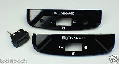 W10341820 71001563 74005805 W10341819 74006145 Jenn-Air Fan Switch Kit OEM