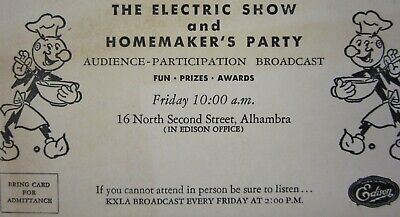 Vintage Reddy Kilowatt So Cal Edison Electric Show Homemakers Party Invitation