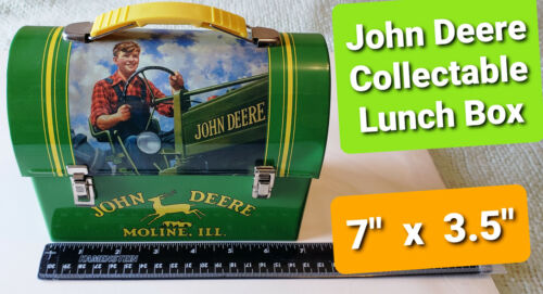 (1) Classic Collection John Deere Tin Collectible Lunchbox... PRISTINE! Open Box