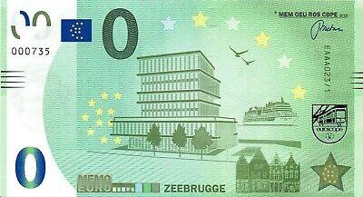 0 Euro Biljet Zeebrugge