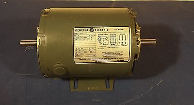 Double Shaft General Electric A-c Motor 5k35kn166 14hp 208-220440volt 3ph