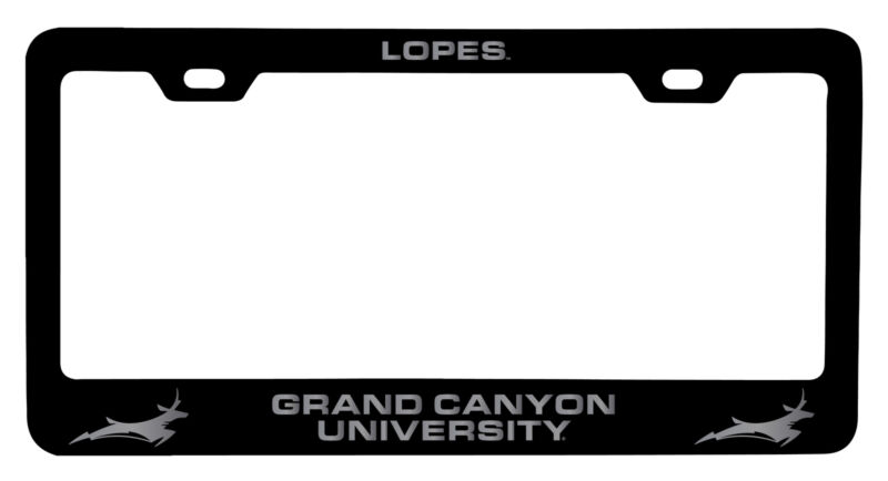 Grand Canyon University Lopes Laser Engraved Metal License Plate Frame Black