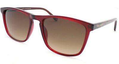 TED BAKER Sunglasses 'Marlow' Shiny Burgundy / Brown Gradient Lenses 1535 (Wayfarer 200)
