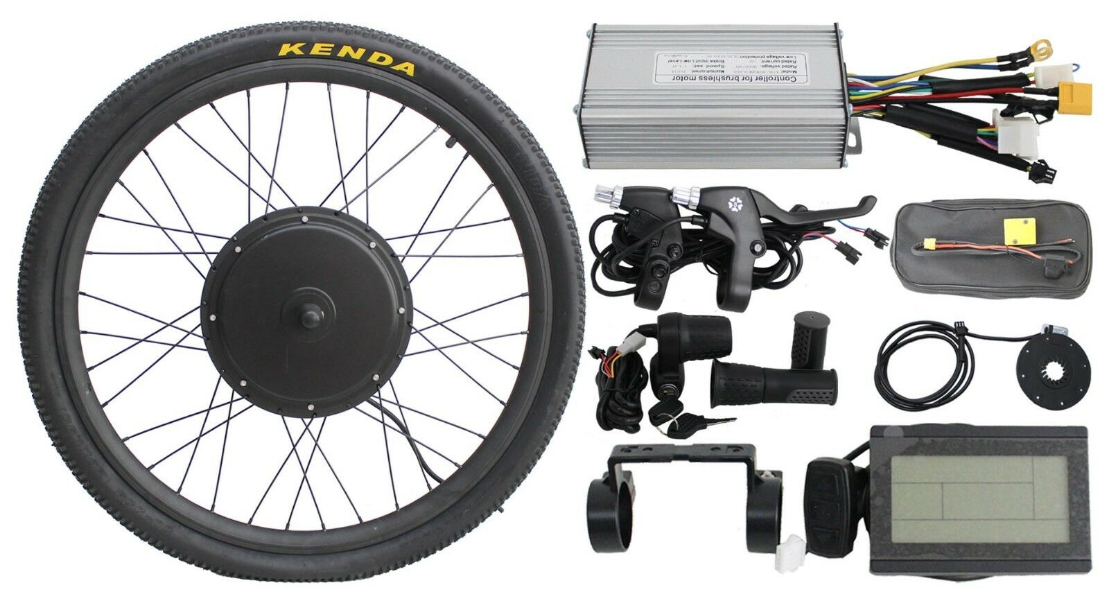 "Hallomotor Electric Bike Displa+48v 1000w 24"" Front Wheel  E"