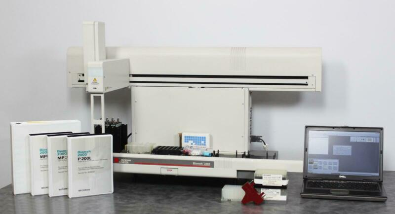Beckman Coulter Biomek 2000 Automated Liquid Handler w/ Laptop & Pipette Tools